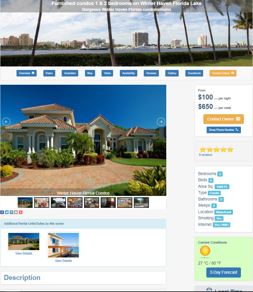 Rental Property Website Template 1