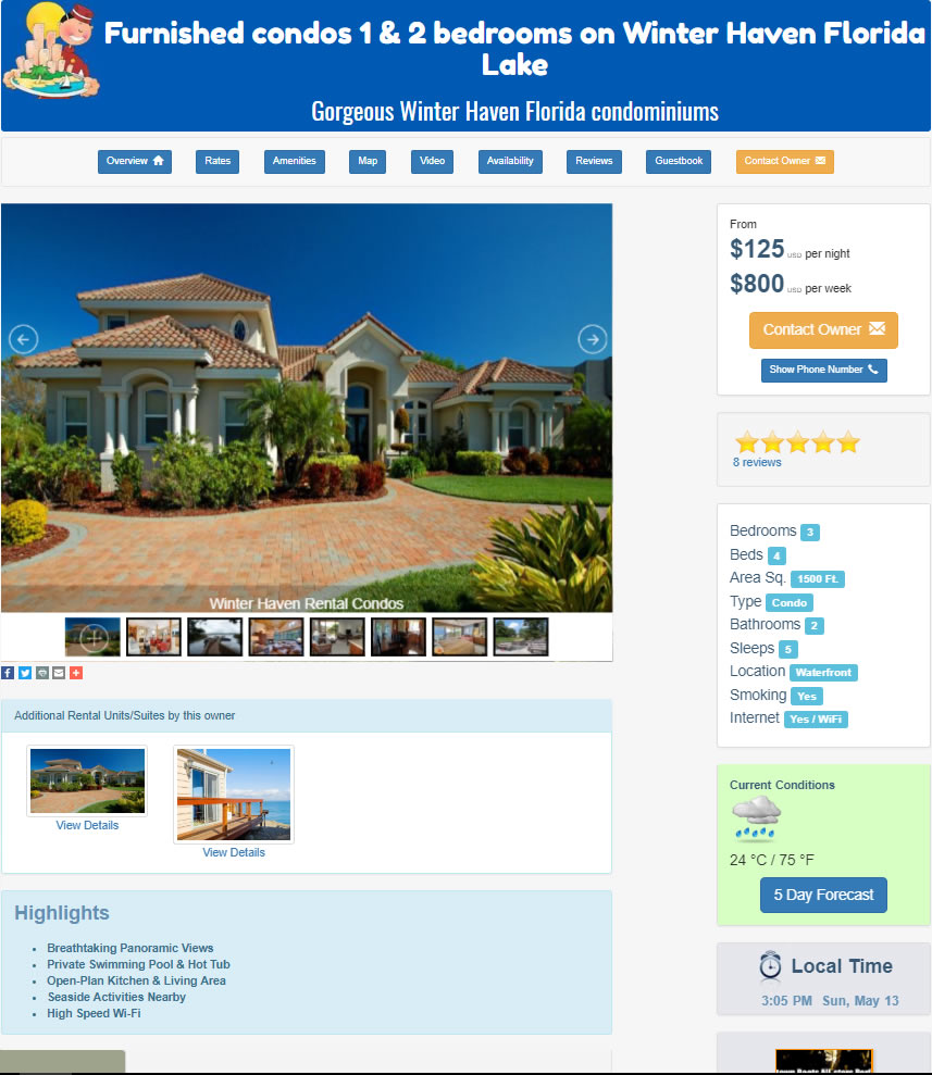 Rental Property Website Template 2
