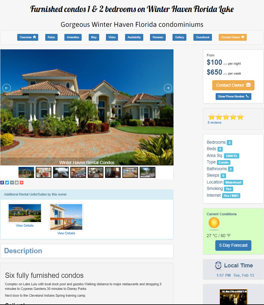 Rental Property Website Template 3